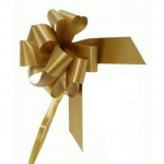 large Pull Bow 50mm wide ribbon, Gold