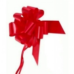 large Pull Bow 50mm wide ribbon, Rich Red
