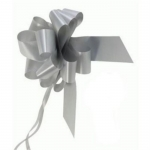 large Pull Bow 50mm wide ribbon, Silver