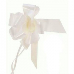 large Pull Bow 50mm wide ribbon, White