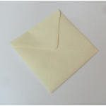 "Pack 20 Square 5""  Envelopes CREAM 100gsm  130mm x 130mm"