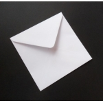 "Pack 20 Square 5""  Envelopes WHITE 100gsm  130mm x 130mm"