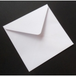 "Pack 20 Square 6""  Envelopes WHITE 100gsm.  155mm x 155mm"