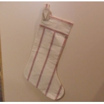 East of India:  Large Cotton Linen Christmas Stocking