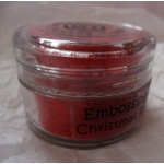 Cosmic Shimmer Embossing Powders. CHRISTMAS RED SPARKLE.  20ml pot
