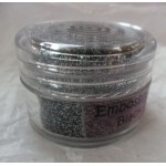 Cosmic Shimmer Embossing Powders. BLACK SPARKLE.  20ml pot