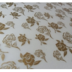 BY the sheet.  A4 ROSE Patterned Vellum - GOLD.