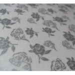 BY the sheet.  A4 ROSE Patterned Vellum - SILVER.
