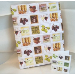 Gift Wrap Pack. 2 Lge Sheets & 2 Tags. WINE FRENCH VINEYARDS