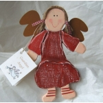 Wooden Guardian Angel, Sitting. RED