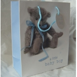 Medium Gift Bag BABY BOY. Teddy #1