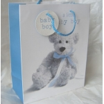 Medium Gift Bag BABY BOY. Teddy #2