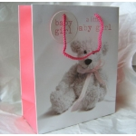Medium Gift Bag. BABY GIRL. Teddy#2