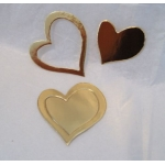 20 Small Nesting HEARTS. DieCut. GOLD