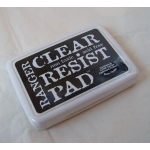 Clear & Resist Pad. Use with Glossy Card..