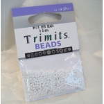 Seed Beads 8g WHITE, Trimits by Impex