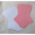 12 Large BASQUE Diecuts. PINK & WHITE. Fabulous