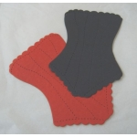 12 Large BASQUE diecuts. RED & BLACK. Fabulous!