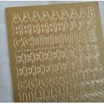 Peel Offs. ALPHABET. Uppercase. GOLD #023