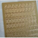Peel Offs. ALPHABET. Uppercase. GOLD #023