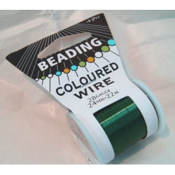 Beading Wire 28gauge coloured GREEN