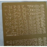 Peel Offs. ALPHABET. Lowercase. GOLD #058