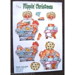 BATH Flippin' Christmas Decoupage Santa 2 x A4 sheets