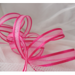 25m Reel.  Satin Edge SHEER RIBBON.  10mm Wide.  FUCHSIA PINK (34)