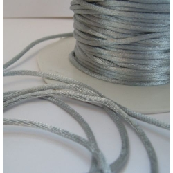 By the Metre, SILVER Satin RATTAIL RIBBON Cording 2mm