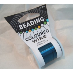 22m Spool Beading Wire 28gauge, BLUE