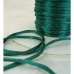 By the Metre, DARK GREEN Satin RATTAIL RIBBON Cording 2mm