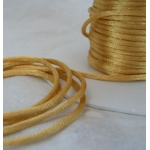 By the Metre,  GOLD Satin RATTAIL RIBBON Cording 2mm