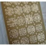 Peel Offs FLOWERS. Gold. #08