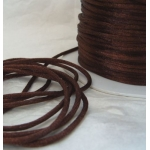 By the Metre, CHOC BROWN Satin RATTAIL RIBBON Cording 2mm