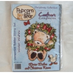Unmounted Rubber Stamp Set POPCORN THE BEAR Winter Wishes A6