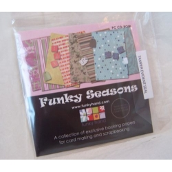 CD Rom. FUNKY SEASONS. Backing Paper, ATCS, Alphabets etc