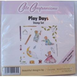 Unmounted Rubber Stamp Set CUTE COMPANIONS. Play Days