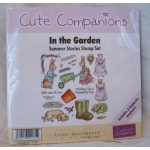 Unmounted Rubber Stamps Set CUTE COMPANIONS Summer Stories IN THE GARDEN