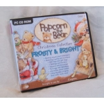 CD Rom. POPCORN THE BEAR. Christmas Collection. FROSTY & BRIGHT