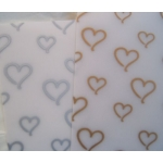 6 Sheets BEAUTIFUL VELUMS. A4. Gold & Silver HEARTS