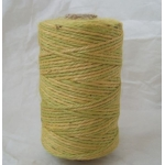 Large Reel NATURAL JUTE String. LIME & YELLOW. 125g