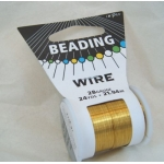 22m Spool Beading Wire 28 gauge, GOLD