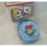 "CupCake Cases Paper 2"" base, Blue, Football theme"