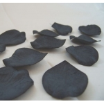Paper Petals. Bridal. Window/Table Dressing.  Matt BLACK. Thick handmade papers
