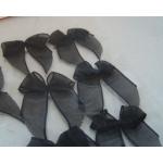 Pack 12 Organza Ribbon Bows, Self Adhesive, BLACK.