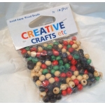 Wooden Beads Round 6mm ASSORTED