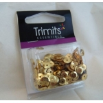 Pack of Cup Sequins 5mm GOLD, 500pces