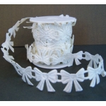 BY the Metre, Padded Motif Ribbon. Ivory BOWS