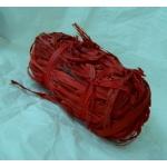 Bundle of NATURAL RAFFIA. Coloured RED. 50g