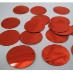 "Large Round Sequins 24mm (1"") RED"
